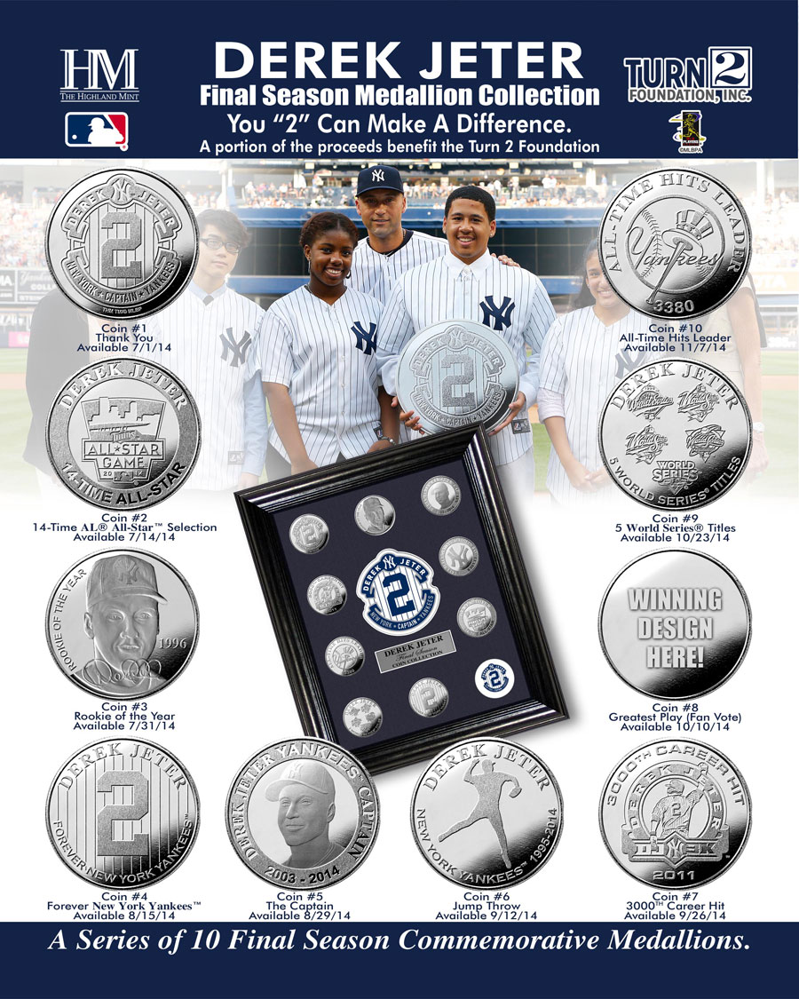 Derek Jeter Retirement Coin Collection